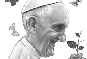 Museu de Arte Sacra apresenta exposição de cartuns do Papa