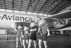 Turma da Mônica celebra 80 anos de seu criador em avião Avianca
