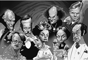 Cartunistas homenageiam atores e personagens de novelas globais