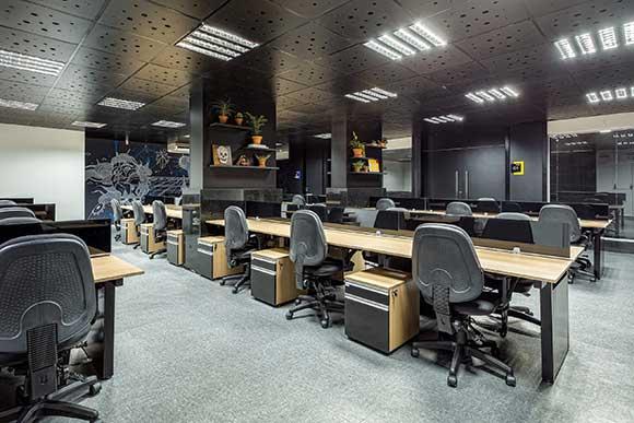 Edifício Orbit City, em Curitiba PR, foi construído dentro do conceito coworking