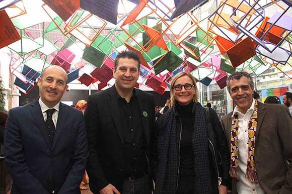 Victor Megido, Lauro Andrade, Clarissa Schneider e Marcelo Lopes autor da instalação