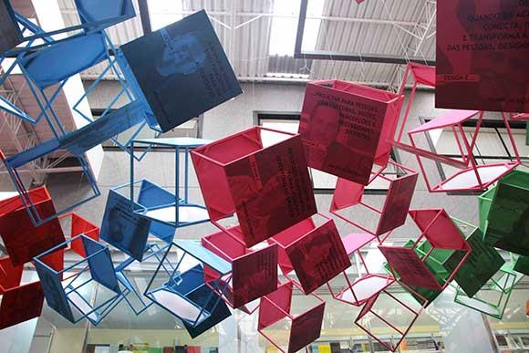 Visão geral da instalação criada por Marcelo Lopes para celebrar 5 anos do festival DW!