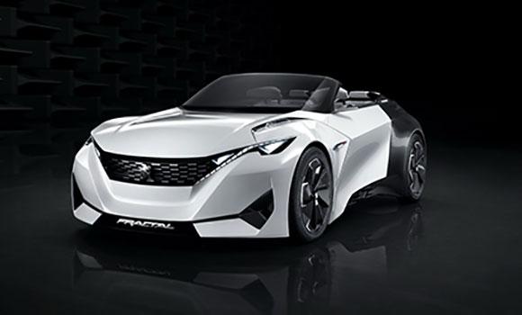 Um dos destaques da Peugeot é o Fractal, protótipo elétrico esportivo com autonomia de 450 km