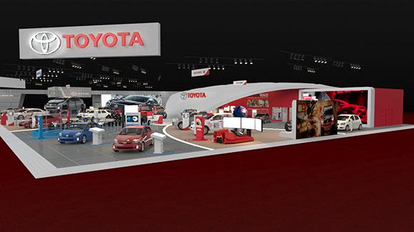 Toyota apresenta em seu estnde produtos fabricados no Brasil e modelos do futuro