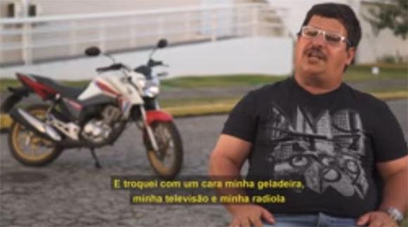 Joceli da Silva, comerciante de Recife trocou geladeira, TV e radiola pela sua primeira moto GC